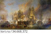 Stanfield Clarkson Frederick - the Battle of Trafalgar - British ... Редакционное фото, фотограф Artepics / age Fotostock / Фотобанк Лори