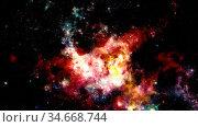 Futuristic abstract space background. Night sky with stars and nebula... Стоковое фото, фотограф Zoonar.com/Irina Dmitrienko / easy Fotostock / Фотобанк Лори