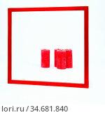 Roter Rahmen. Стоковое фото, фотограф Zoonar.com/fotoping / easy Fotostock / Фотобанк Лори