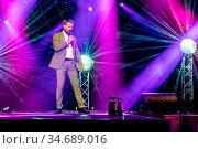 Der schweizer Schlagersänger und Moderator Leonard live bei der 19... Стоковое фото, фотограф Zoonar.com/Oliver Gutfleisch / age Fotostock / Фотобанк Лори