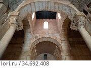 San Pedro de la Nave visigothic church 7-8th centuries, inside. El... Стоковое фото, фотограф J M Barres / age Fotostock / Фотобанк Лори