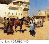 Weeks Edwin Lord - Horse Market Persian Stables Bombay - British ... Редакционное фото, фотограф Artepics / age Fotostock / Фотобанк Лори