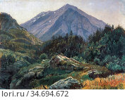 Haseltine William Stanley - Mountain Scenery Switzerland - British... Редакционное фото, фотограф Artepics / age Fotostock / Фотобанк Лори
