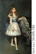 Henry George - Portrait of Marion N. Parker - British School - 19th... Редакционное фото, фотограф Artepics / age Fotostock / Фотобанк Лори