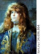 Guirand De Scévola Lucien Victor - Portrait of Sarah Bernhardt - ... Редакционное фото, фотограф Artepics / age Fotostock / Фотобанк Лори