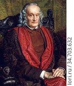 Hunt William Holman - Sir Richard Owen - British School - 19th Century... Редакционное фото, фотограф Artepics / age Fotostock / Фотобанк Лори