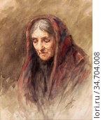 Kerr Henry Wright - Grannie - British School - 19th Century. Редакционное фото, фотограф Artepics / age Fotostock / Фотобанк Лори