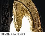 Patio de los Leones. La Alhambra. Granada. Spain. Стоковое фото, фотограф Luis Castañeda / age Fotostock / Фотобанк Лори