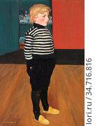 Evenepoel Henri - Charles Au Jersey Raye - Belgian School - 19th ... Редакционное фото, фотограф Artepics / age Fotostock / Фотобанк Лори
