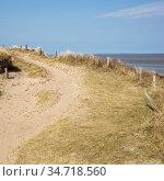 Weg im Naturschutzgebiet Morsum Kliff, Morsum, Sylt, Nordfriesische... Стоковое фото, фотограф Zoonar.com/Wirth / easy Fotostock / Фотобанк Лори