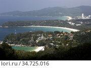 Kata Noi Beach Kata Beach and farthest away Karon Beach from Kata... Стоковое фото, фотограф Andrew Woodley / age Fotostock / Фотобанк Лори