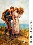 Morris Phillip Richard - Homewards - British School - 19th Century. Редакционное фото, фотограф Artepics / age Fotostock / Фотобанк Лори