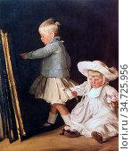 Nicholson Sir William - Francis and Christopher Bacon - British School... Редакционное фото, фотограф Artepics / age Fotostock / Фотобанк Лори