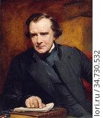 Richmond George - Portrait of Samuel Wilberforce Bishop of Oxford... Редакционное фото, фотограф Artepics / age Fotostock / Фотобанк Лори