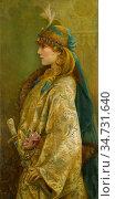 Robertson Walford Graham - Portrait of Sarah Bernhardt as Roxanna... Редакционное фото, фотограф Artepics / age Fotostock / Фотобанк Лори
