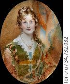 Ross Sir William - Jane Digby Lady Ellenborough - British School - ... Редакционное фото, фотограф Artepics / age Fotostock / Фотобанк Лори