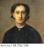Ricard Louis Gustave - Portrait of a Woman - French School - 19th... Стоковое фото, фотограф Artepics / age Fotostock / Фотобанк Лори