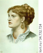 Rossetti Dante Gabriel - Fanny Cornforth 4 - British School - 19th... Редакционное фото, фотограф Artepics / age Fotostock / Фотобанк Лори