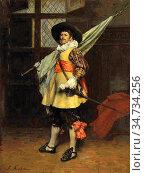 Roybet Ferdinand - the Standard Bearer 2 - French School - 19th and... Стоковое фото, фотограф Artepics / age Fotostock / Фотобанк Лори
