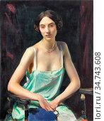Watson George Spencer - Woman in a Camisole - British School - 19th... Редакционное фото, фотограф Artepics / age Fotostock / Фотобанк Лори