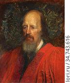 Watts George Frederick - Alfred Tennyson 1st Baron Tennyson 2 - British... Редакционное фото, фотограф Artepics / age Fotostock / Фотобанк Лори