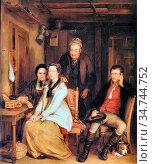 Wilkie Sir David - the Refusal from Burns's Song of Duncan Gray - ... Редакционное фото, фотограф Artepics / age Fotostock / Фотобанк Лори