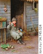 Wilson Charles Edward - the Farmer's Boy - British School - 19th ... Редакционное фото, фотограф Artepics / age Fotostock / Фотобанк Лори
