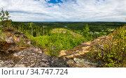 View from the mount Hiidenvuori in Karelia. Стоковое фото, фотограф Юлия Белоусова / Фотобанк Лори