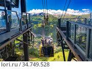 Mountain village Wengen, Switzerland (2019 год). Стоковое фото, фотограф Коваленкова Ольга / Фотобанк Лори