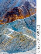 Zabriskie point in death valley national park. Стоковое фото, фотограф Zoonar.com/Alex Grichenko / age Fotostock / Фотобанк Лори