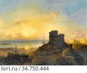 Jacobs Jacob Albrecht - Crusader Castle on the Ottoman Coast - Belgian... Стоковое фото, фотограф Artepics / age Fotostock / Фотобанк Лори