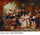 Keyser Nicaise De - Rubens IM Kreis Seiner Mäzene Und Familie - Belgian... Стоковое фото, фотограф Artepics / age Fotostock / Фотобанк Лори