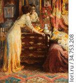 Gilsoul Victor Olivier - La Toilette - Belgian School - 19th Century. Редакционное фото, фотограф Artepics / age Fotostock / Фотобанк Лори