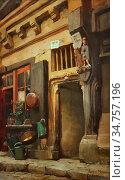 Maignan Albert Pierre René - La Maison Des Deux Amis (Rue De La Reine... Редакционное фото, фотограф Artepics / age Fotostock / Фотобанк Лори