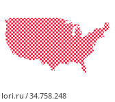Karte der USA in Schachbrettmuster - Map of the USA in checkerboard... Стоковое фото, фотограф Zoonar.com/lantapix / easy Fotostock / Фотобанк Лори