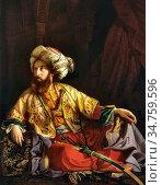 Borsos József - Emir of Lebanon - Hungarian School - 19th Century. Стоковое фото, фотограф Artepics / age Fotostock / Фотобанк Лори