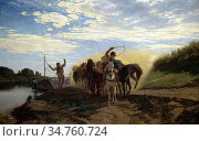 Lotz Károly - Trackers - Hungarian School - 19th Century. (2020 год). Редакционное фото, фотограф Artepics / age Fotostock / Фотобанк Лори