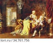 Benczúr Gyula - Louis XVI and His Family at the Siege of Versailles... Редакционное фото, фотограф Artepics / age Fotostock / Фотобанк Лори