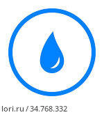 Wassertropfen und Kreis - Water drop and circle. Стоковое фото, фотограф Zoonar.com/Robert Biedermann / easy Fotostock / Фотобанк Лори