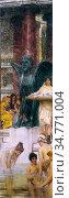 Alma-Tadema Lawrence - a Bath (an Antique Custom) - British School... Стоковое фото, фотограф Artepics / age Fotostock / Фотобанк Лори