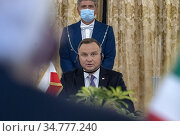 Republic President of Poland Andrzej Duda ,Quirinale Palace, ITALY... Редакционное фото, фотограф Quiinale press office / AGF/Quiinale press office / age Fotostock / Фотобанк Лори