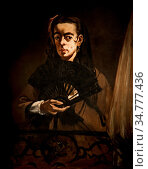 Art, Edouard Manet 1832-1883, title of the work, Angelina, 1865, ... Стоковое фото, фотограф Molteni&Motta / age Fotostock / Фотобанк Лори
