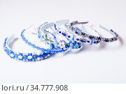 Variety jewelry headbands for female hair in the shop. Handmade. Стоковое фото, фотограф Zoonar.com/Oksana Shufrych / easy Fotostock / Фотобанк Лори