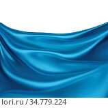 Abstract background with blue silk waves. Стоковое фото, фотограф Zoonar.com/Zoya Fedorova / easy Fotostock / Фотобанк Лори