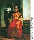 Dehodencq Alfred - Jewish Bride in Morocco - French School - 19th... Стоковое фото, фотограф Artepics / age Fotostock / Фотобанк Лори