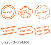 Received Stempel - Received stamps. Стоковое фото, фотограф Zoonar.com/Robert Biedermann / easy Fotostock / Фотобанк Лори