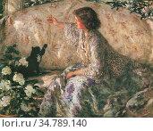 Steer Philip Wilson - Hydrangeas - British School - 19th Century. Редакционное фото, фотограф Artepics / age Fotostock / Фотобанк Лори