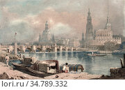 Prout Samuel - View of Dresden Germany - British School - 19th Century... Редакционное фото, фотограф Artepics / age Fotostock / Фотобанк Лори