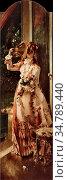 Stevens Alfred - De Vier Seizoenen 3 - De Zomer - Belgian School - ... Редакционное фото, фотограф Artepics / age Fotostock / Фотобанк Лори