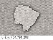 Karte von Mato Grosso do Sul auf altem Leinen - Map of Mato Grosso... Стоковое фото, фотограф Zoonar.com/lantapix / easy Fotostock / Фотобанк Лори